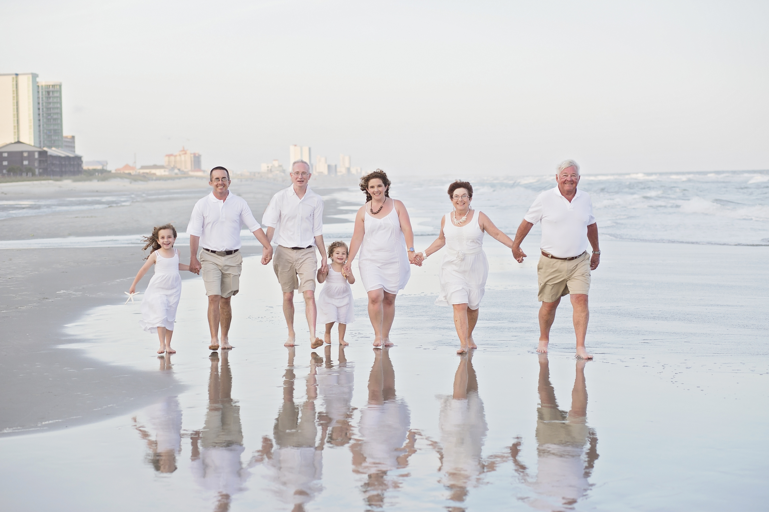 north myrtle beach family beach portrait