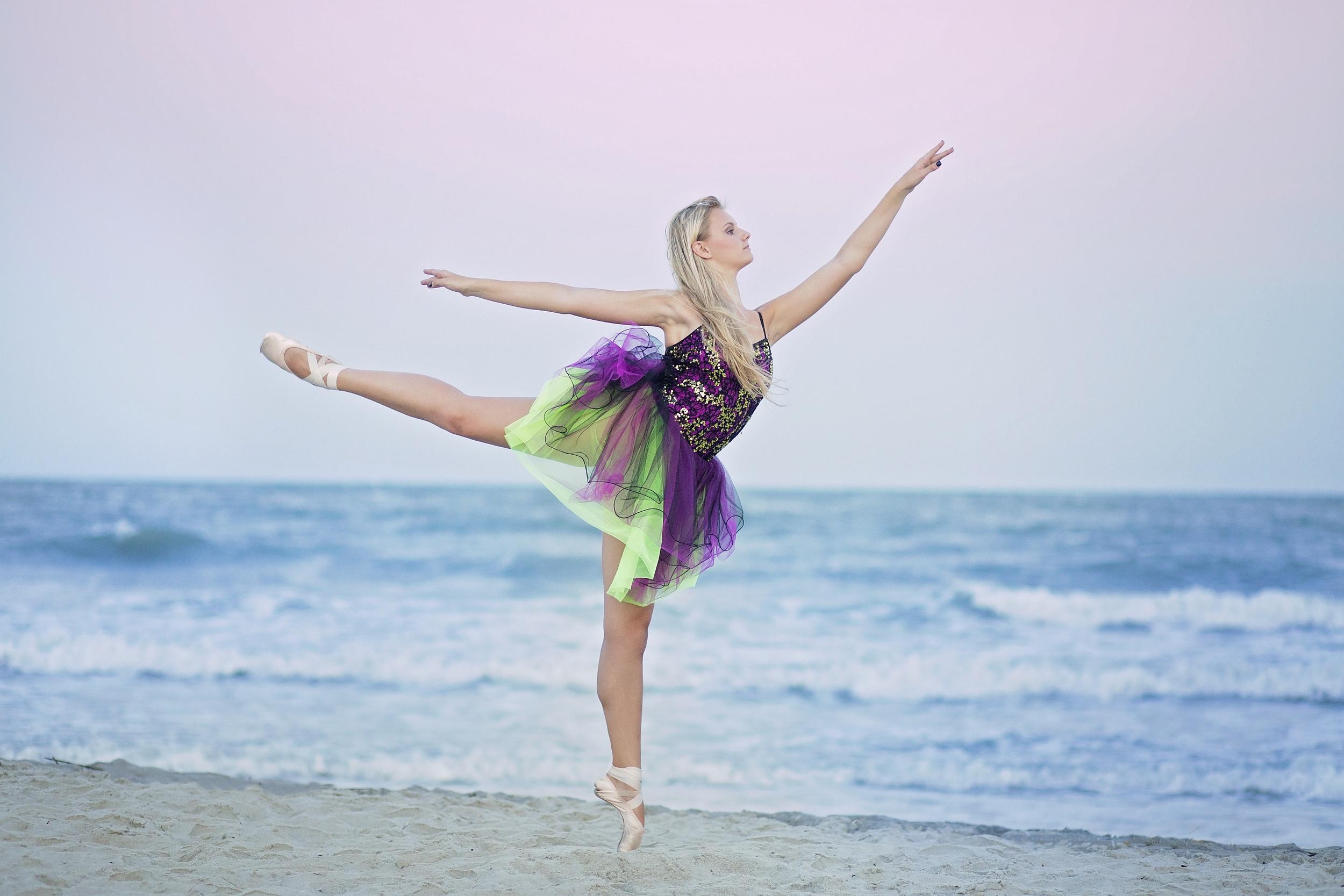 myrtle beach ballet portraits beach dancer
