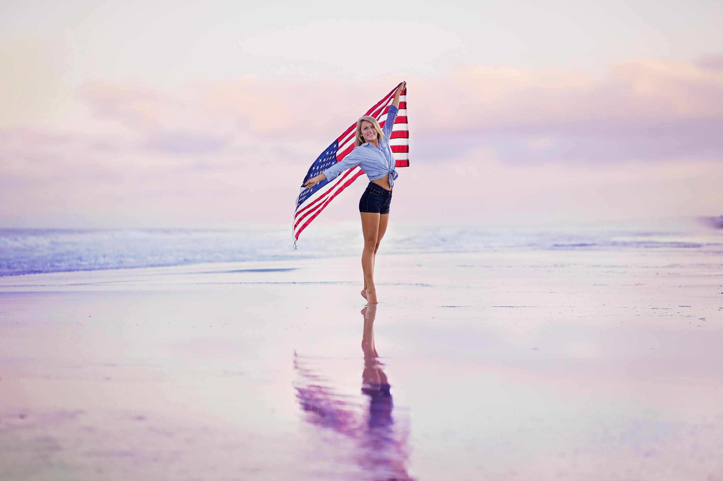 south carolina beach senior photographer american girl