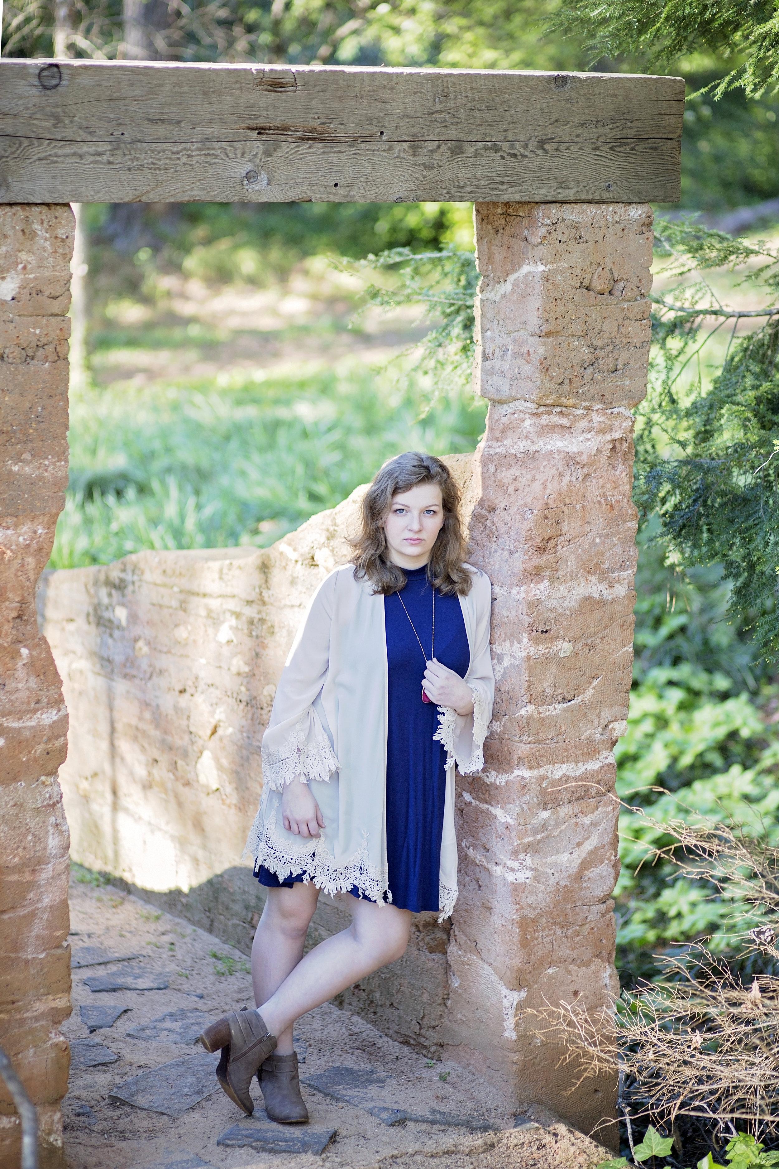earth bridge senior portraits clemson sc pickens county