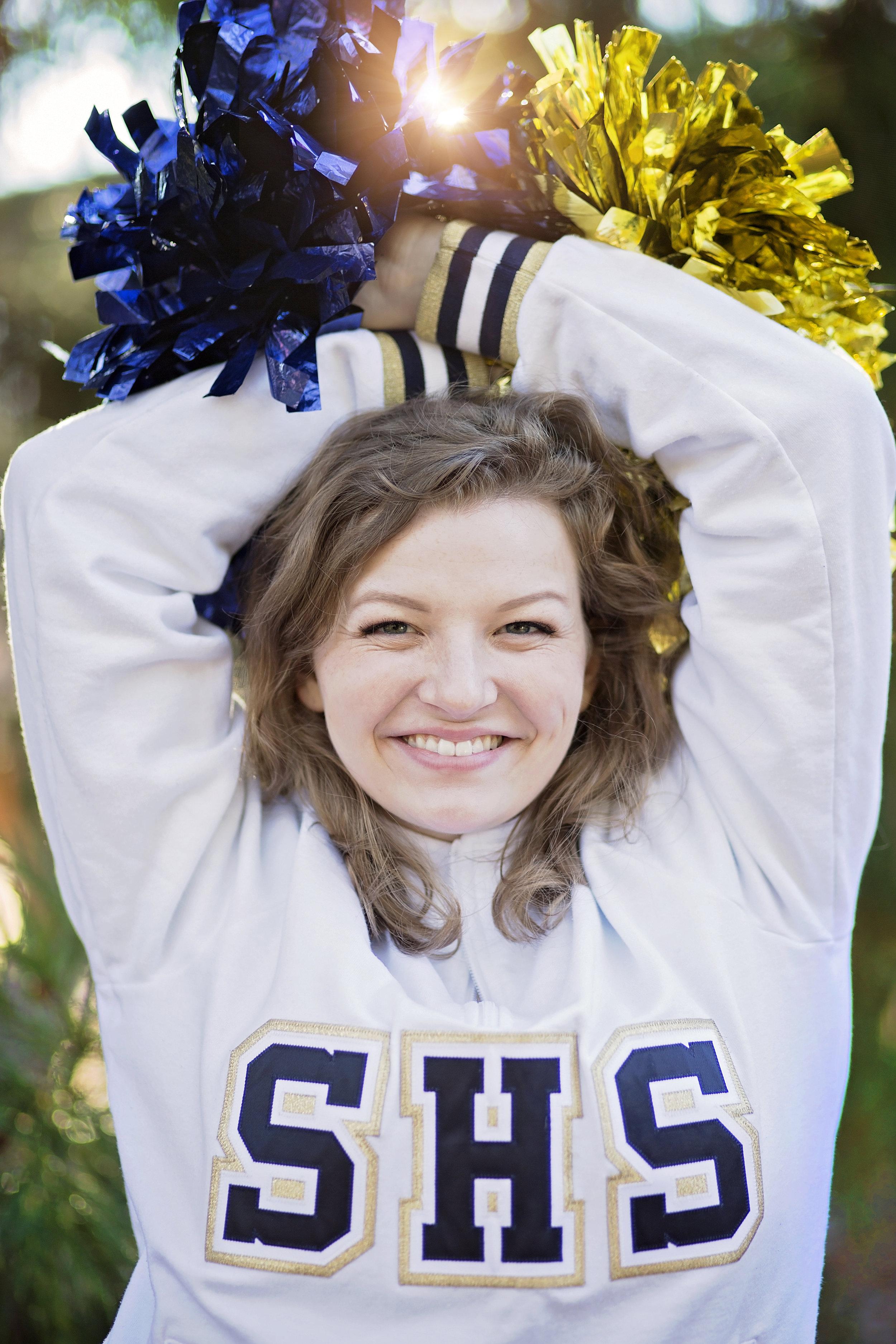 seneca high school cheerleader senior portraits