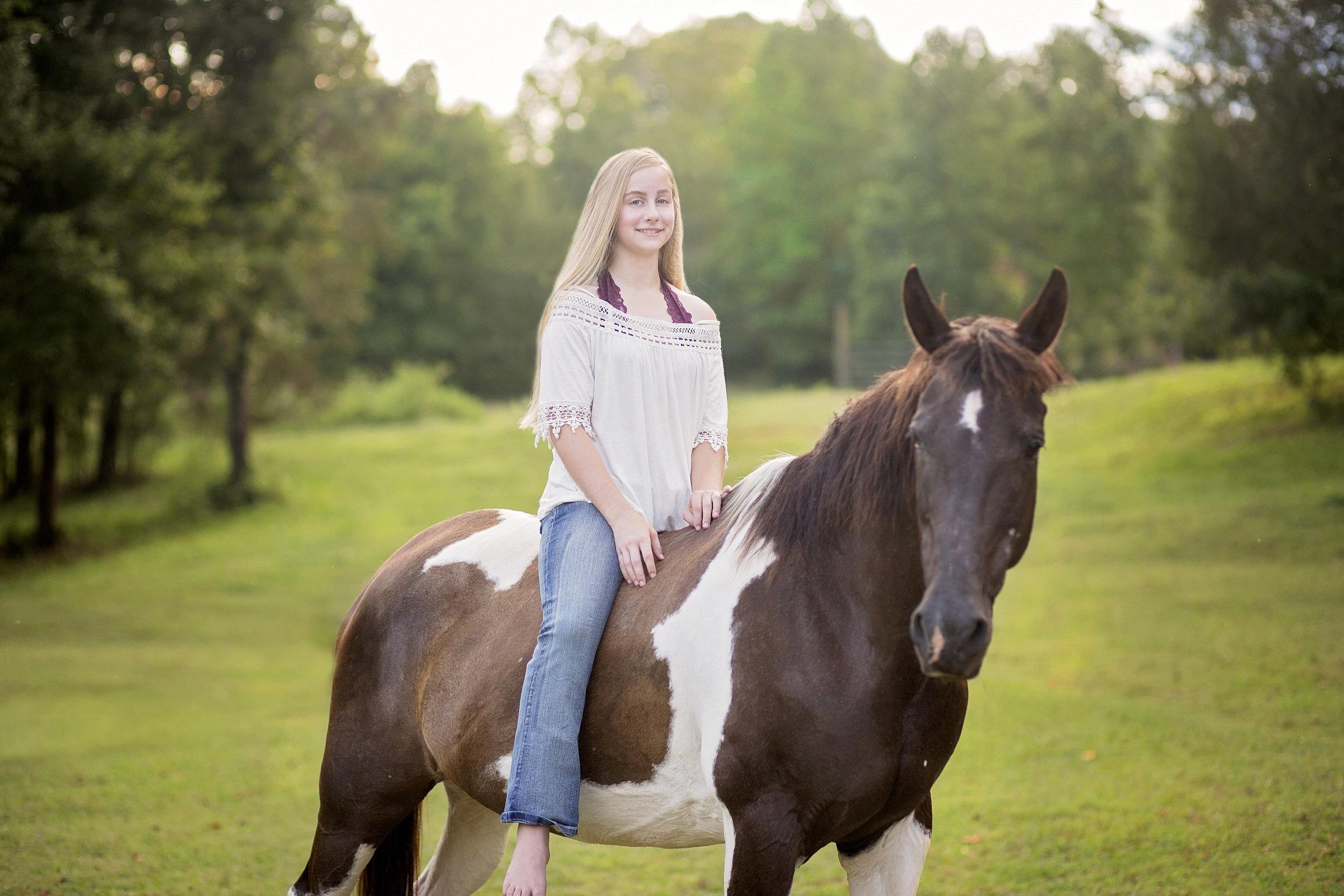 pickens sc senior portraits  senior photographer pickens sc  horse senior portraits