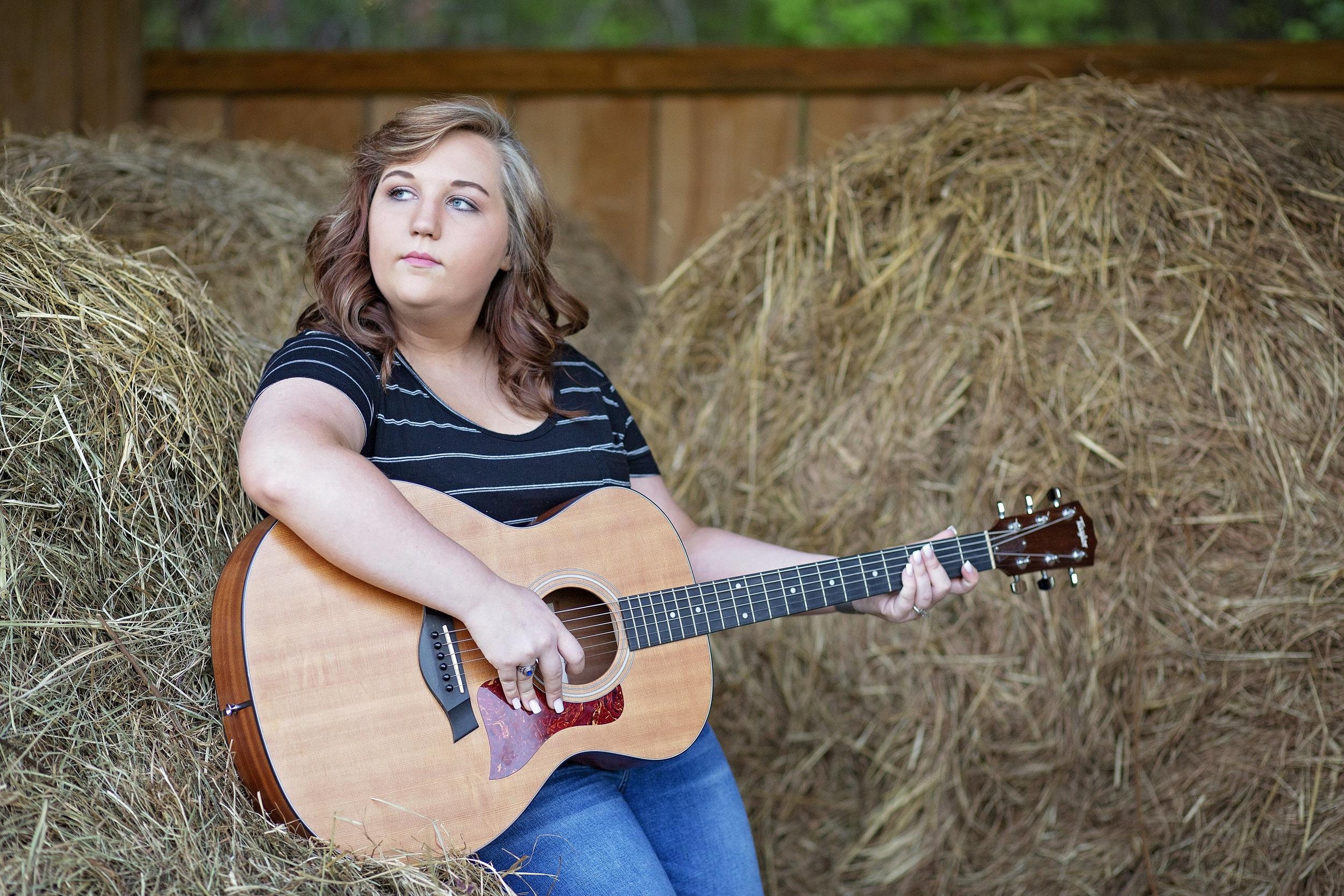 pickens sc senior portraits  senior photographer pickens sc  hagood mill pickens sc  guitar senior portraits  pickens high school