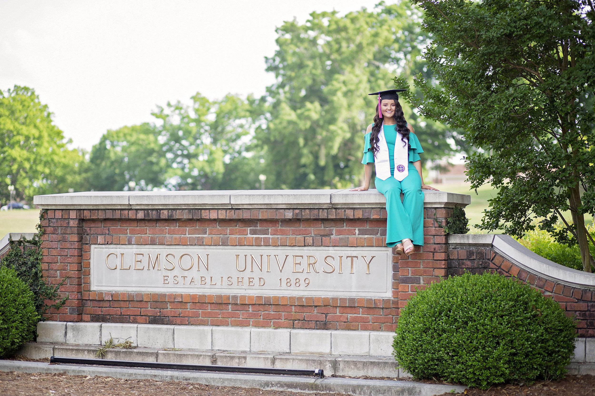 clemson university senior pictures portraits