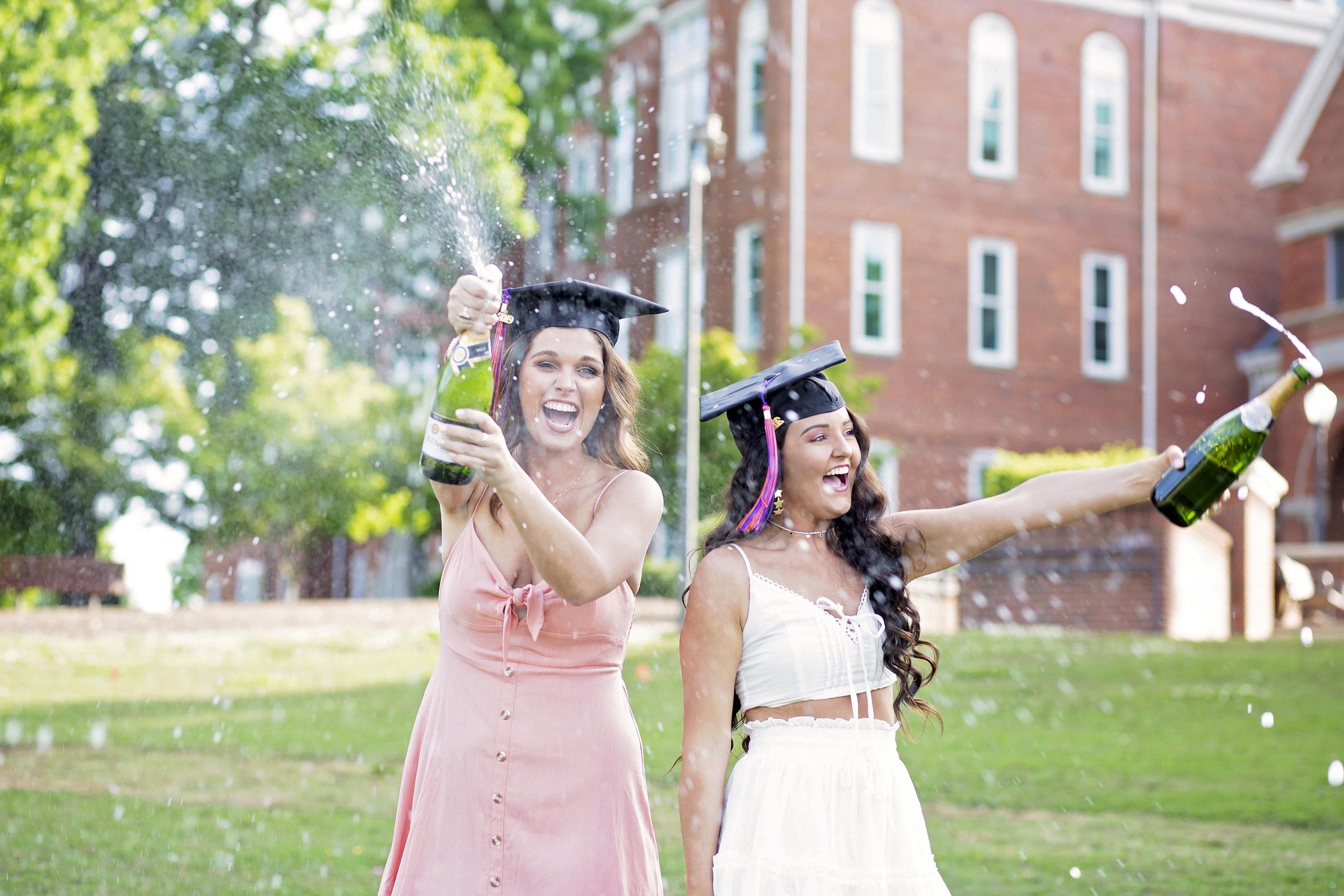 clemson university senior portraits pictures champagne