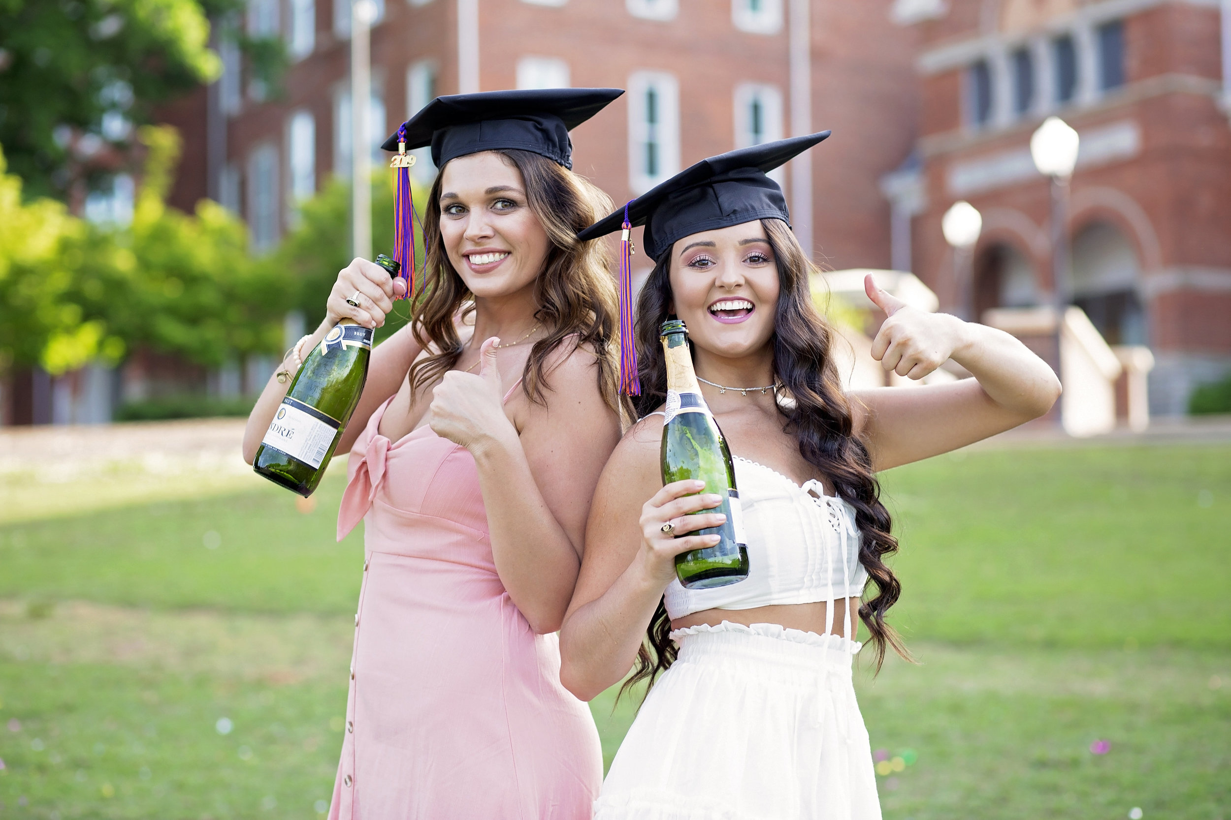 clemson university senior portraits pictures champagne
