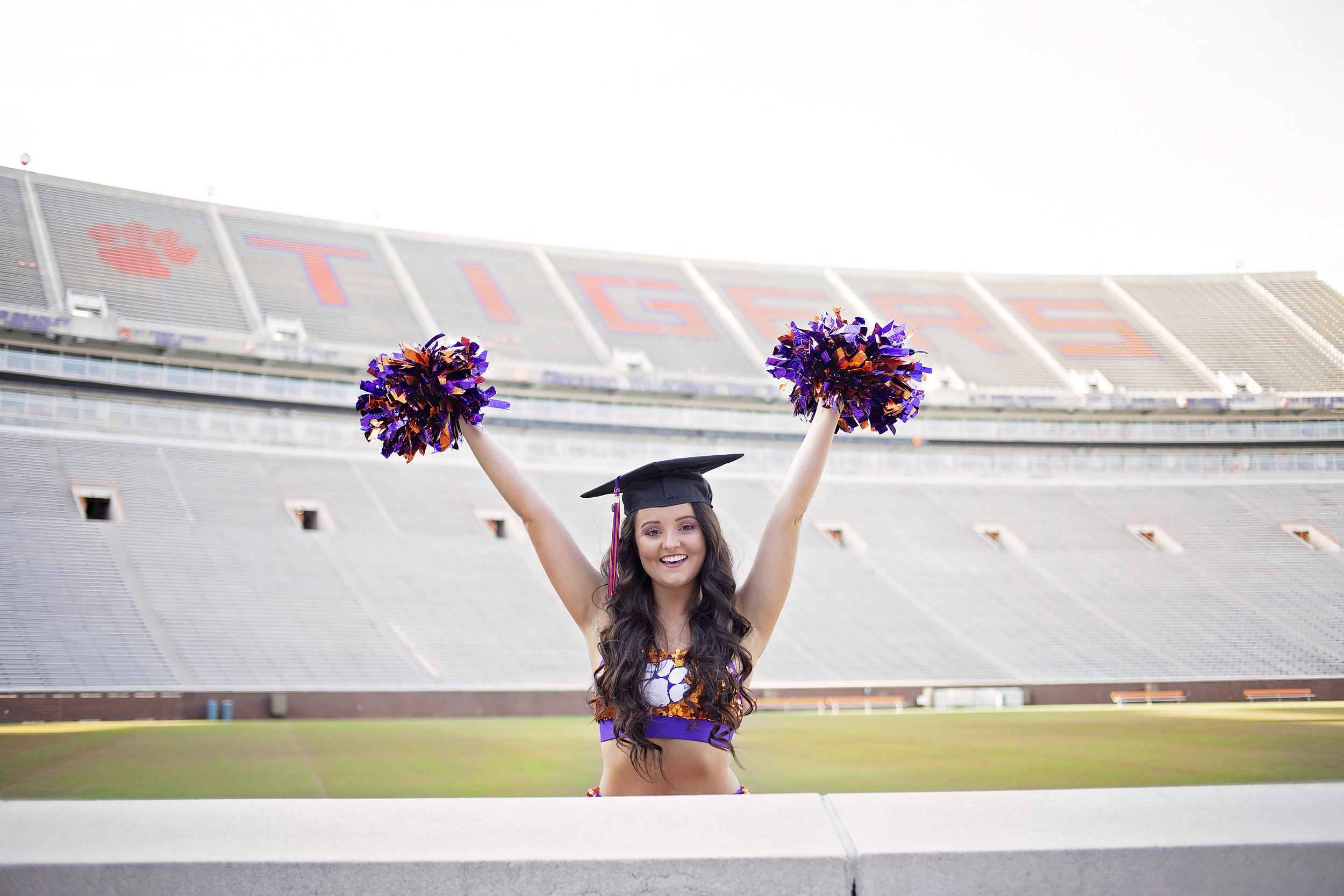 clemson university senior portraits pictures tiger stadium
