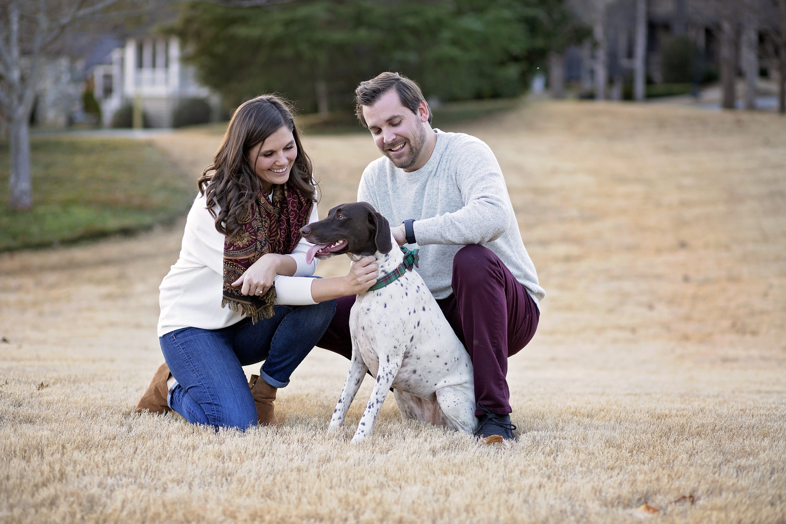 Pickens SC engagement photographer portraits the reserve at lake keowee dog