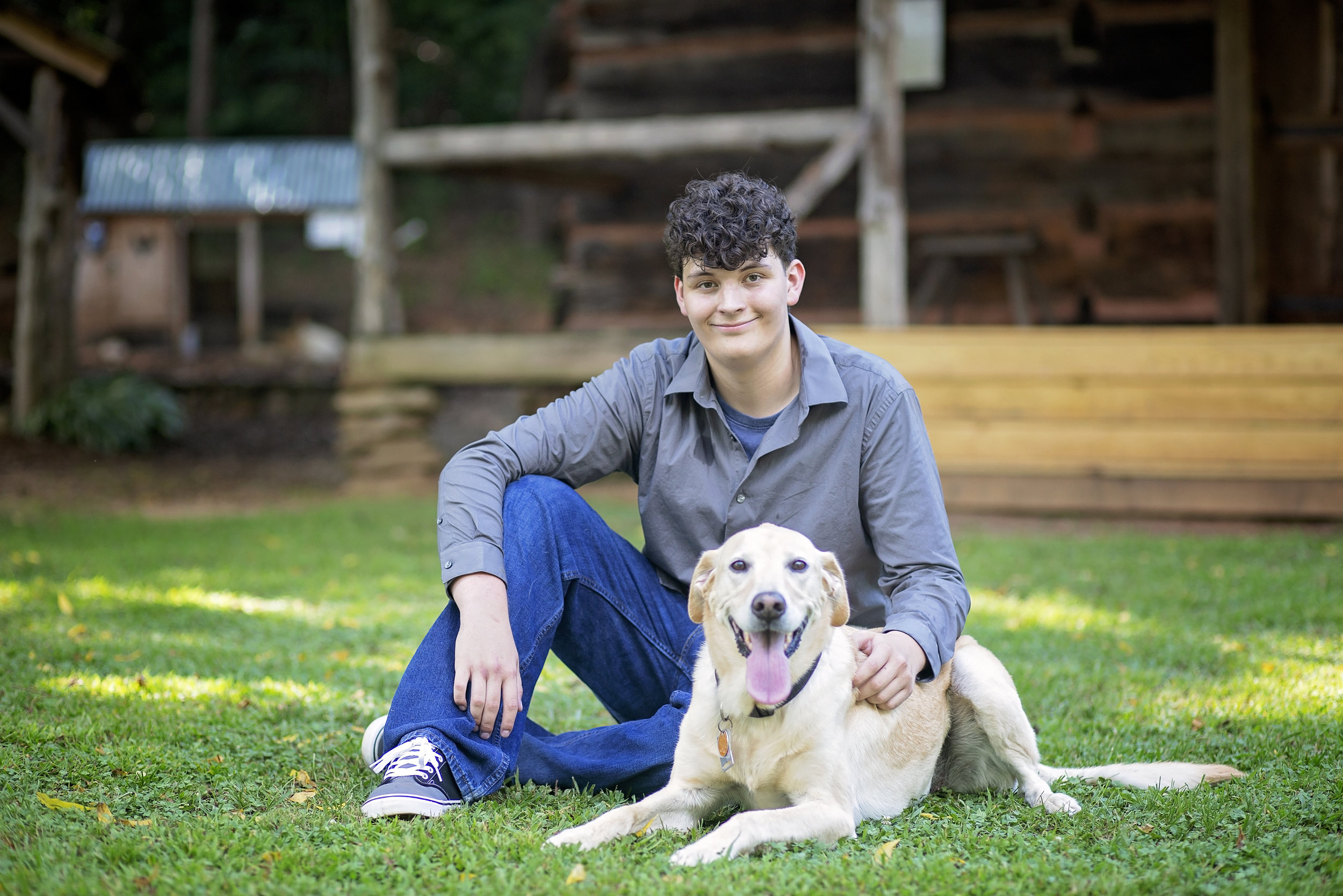 liberty high school senior portraits sc dog