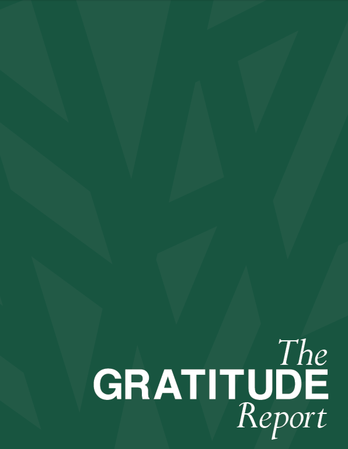Eton Academy | The Gratitude Report | 2018 Annual Report