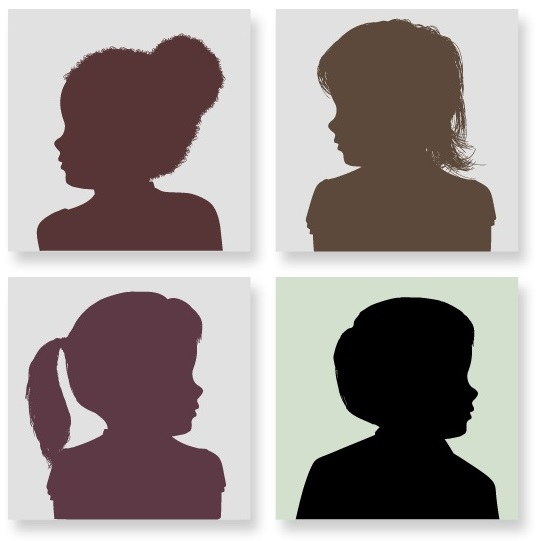 Four child side profiles. Links to updates Coalition work and developments relating to children living in congregate care in PA.