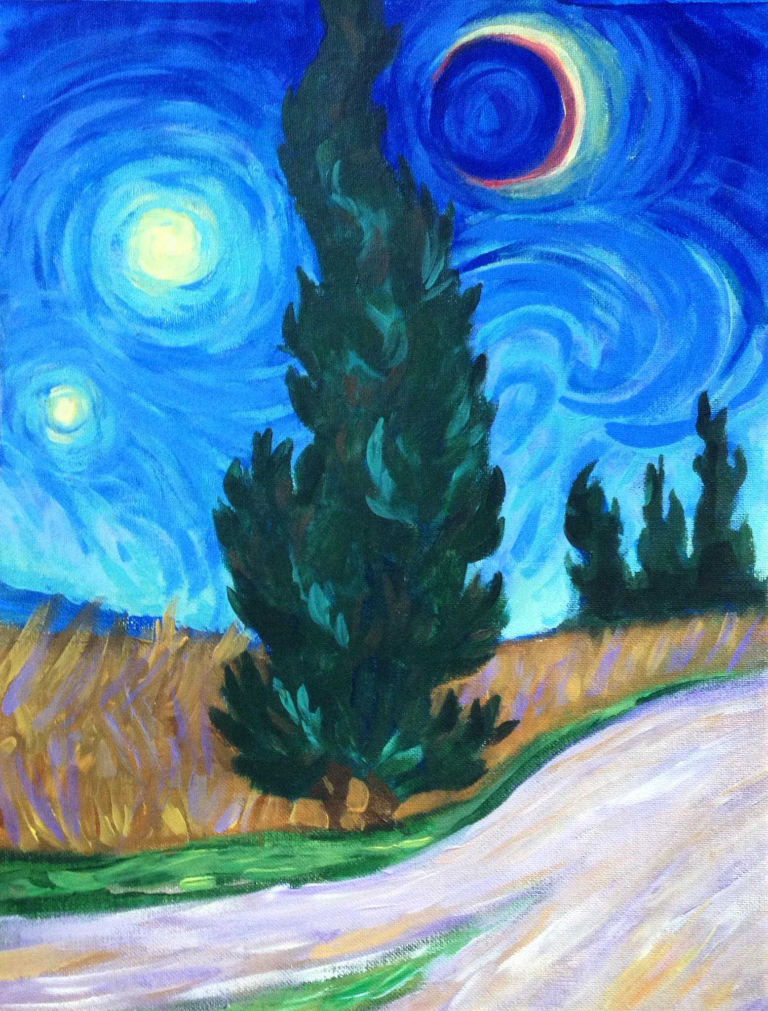Van Gogh's Cypress with Road.JPG