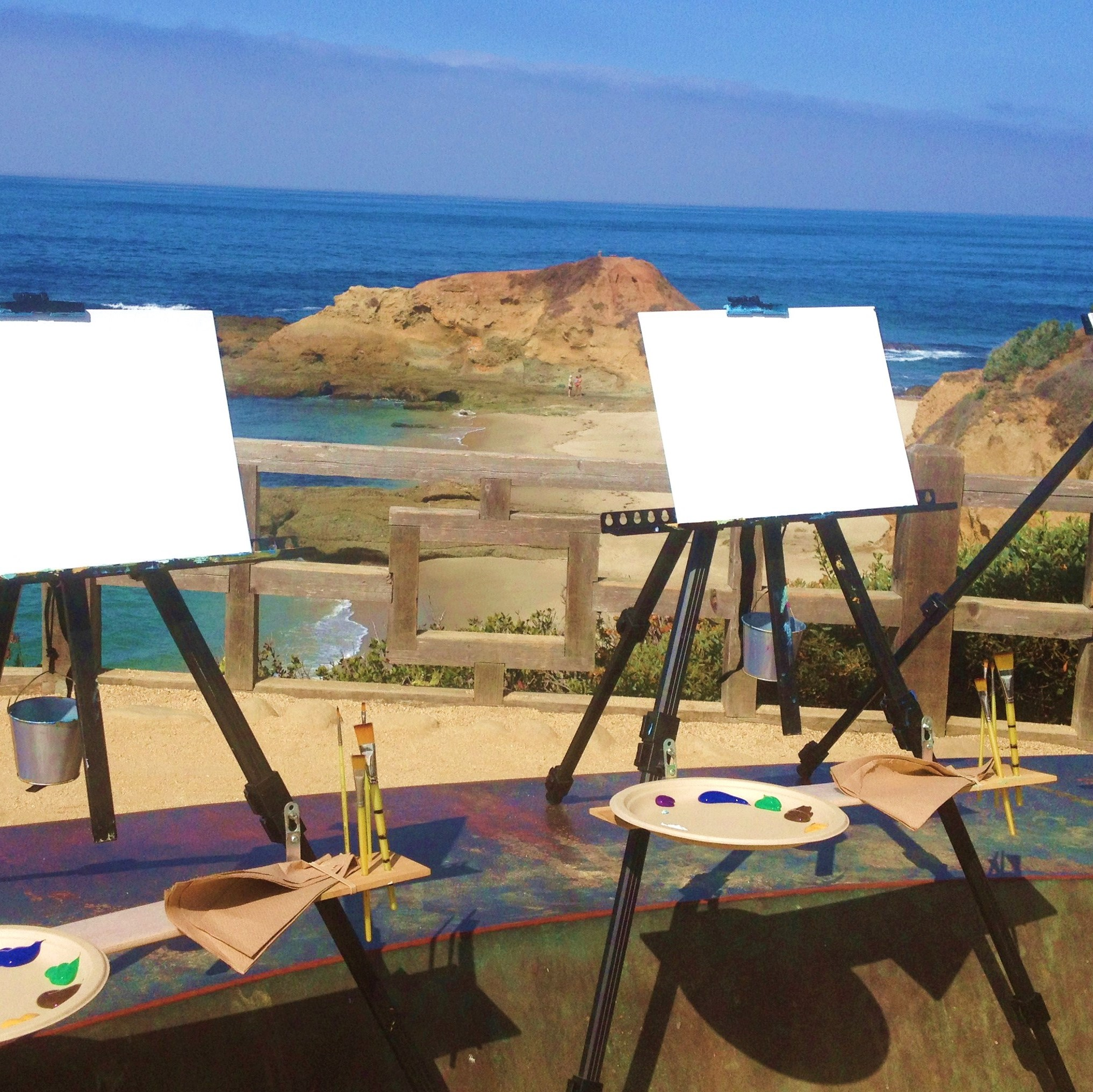 Plein Air - Plein air events are a great way to enjoy the outdoors and relax while painting on location. Plein air is a phrase from the French meaning