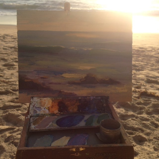 Make Art Everyday! Challenge- Day 6  A quick wave painting in oil. One of my favorite subjects to paint plein air.  #painterlypeople #painterly #painterlydays #makearteveryday #dailyart #pleinair #lagunabeach #lagunabeachcommunity