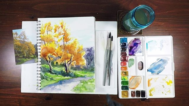 "New Watercolor video tutorial ""Sycamores"" available on https://www.painterly.tv/"