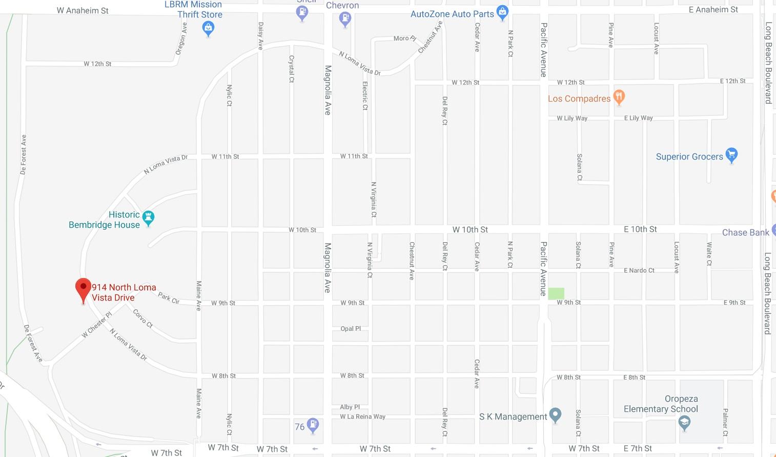 914 N Loma Vista Map.png