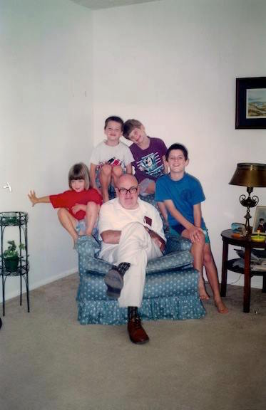 The Late JIM Everson with his Grandchildren