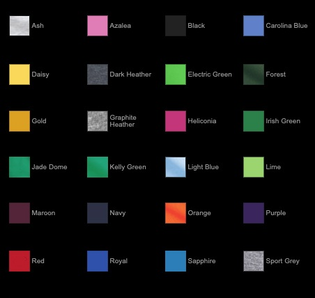 COLOR OPTIONS   • Click or tap to enlarge   Please note your color of choice before starting an order.
