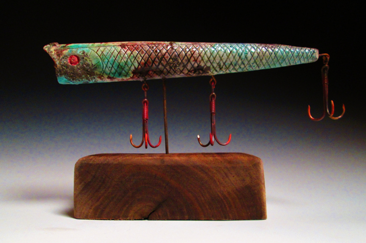 Mounted Lure  9x5x2.5  Ceramic and Reclaimed Material $250.JPG