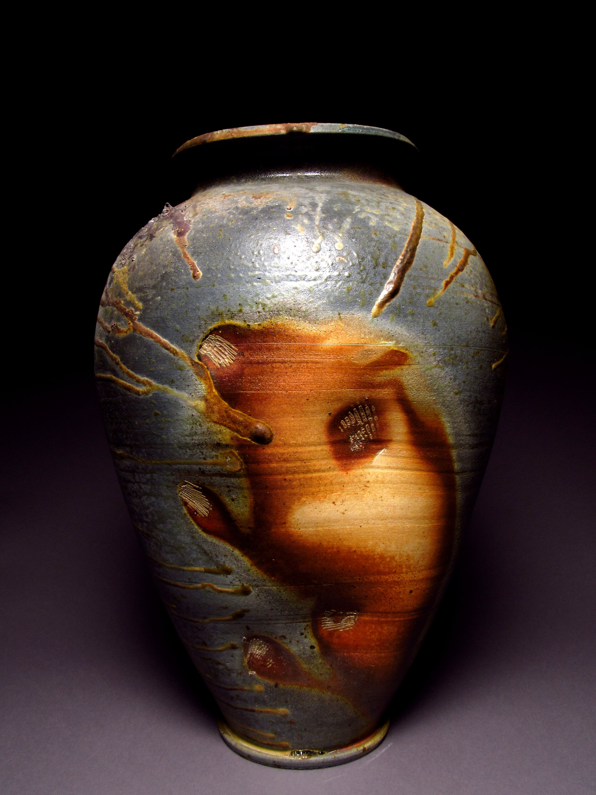 Jar 006. 65# Local Stoneware. Natural Wood Ash Glaze. 2016