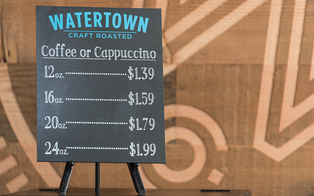 MENU BOARD WITH EASEL