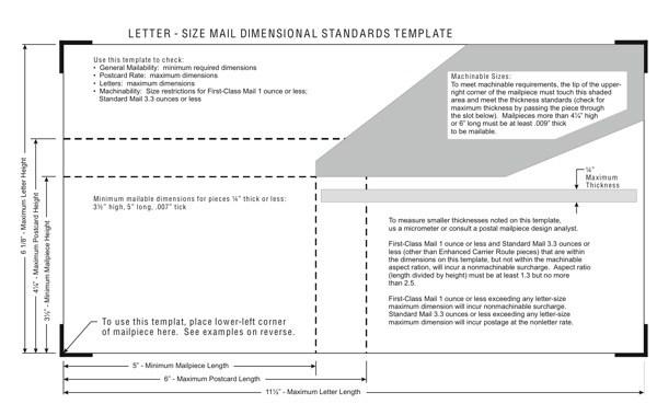 USPS Mail Size