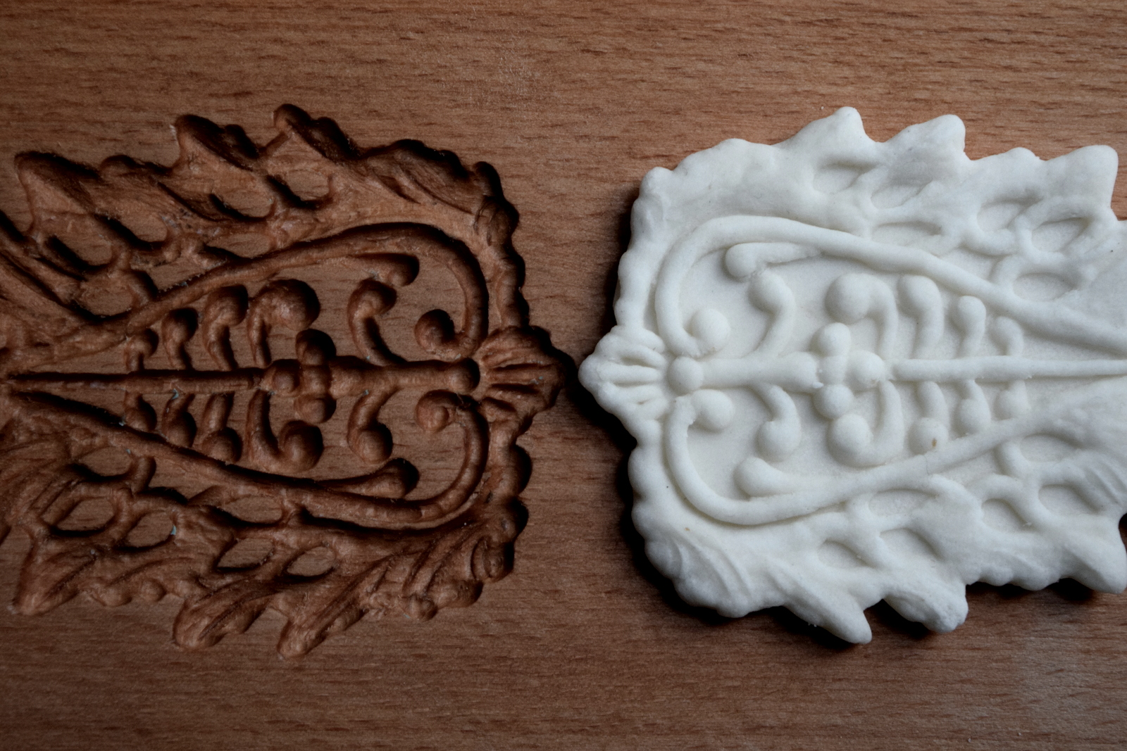 One of the 15  th  century style confectionary molds and castings used in the work – Photo: Tasha Marks