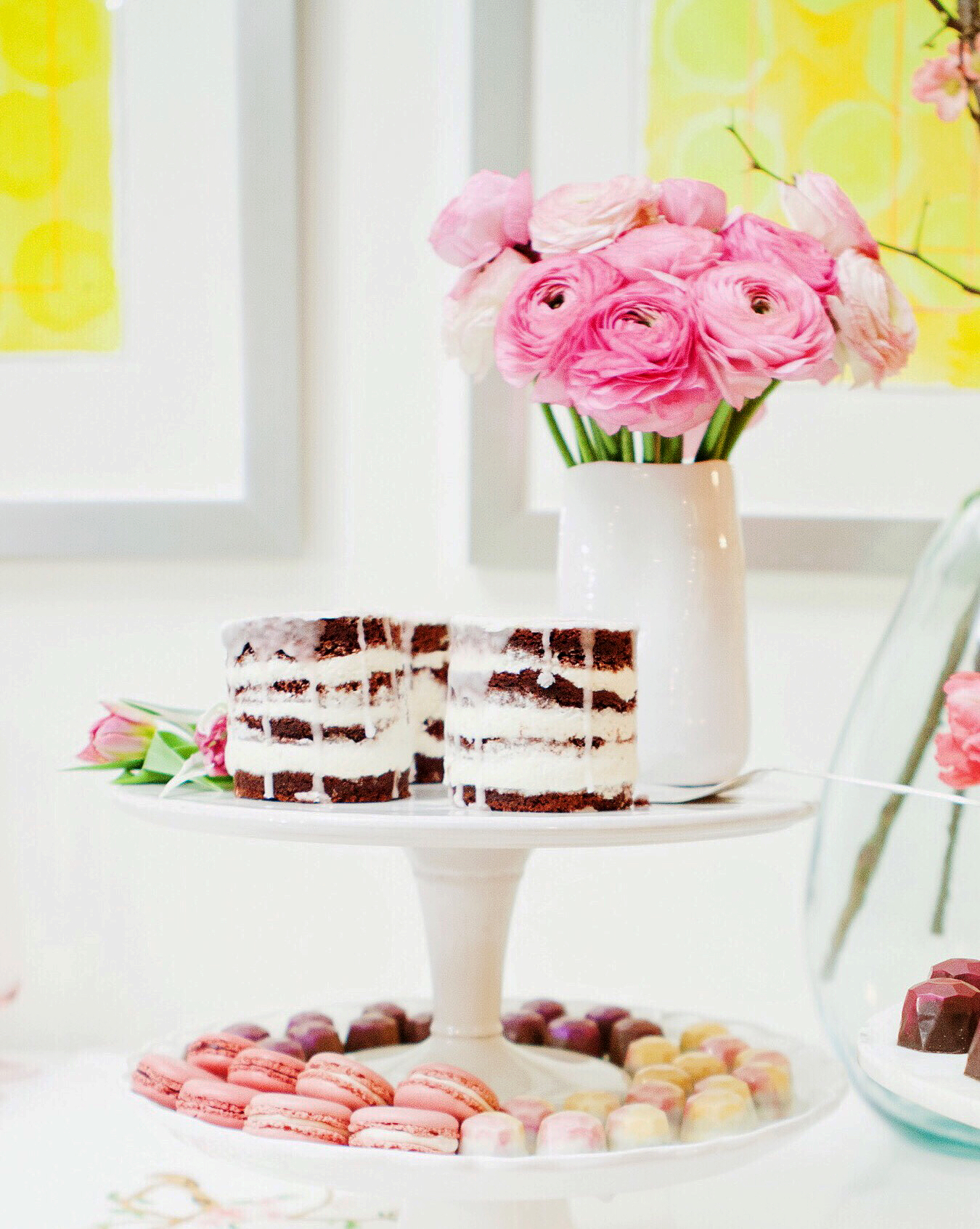 Valentine's Day Dessert and Flowers.jpg