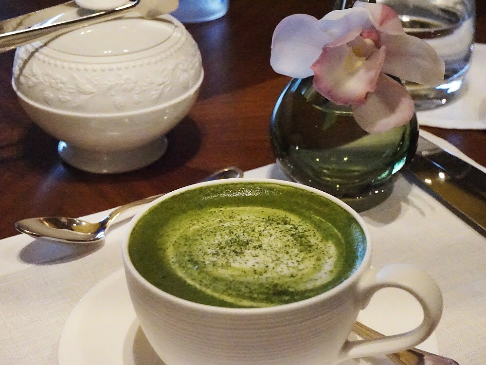 Matcha Tea Latte at Ritz Carlton Kyoto