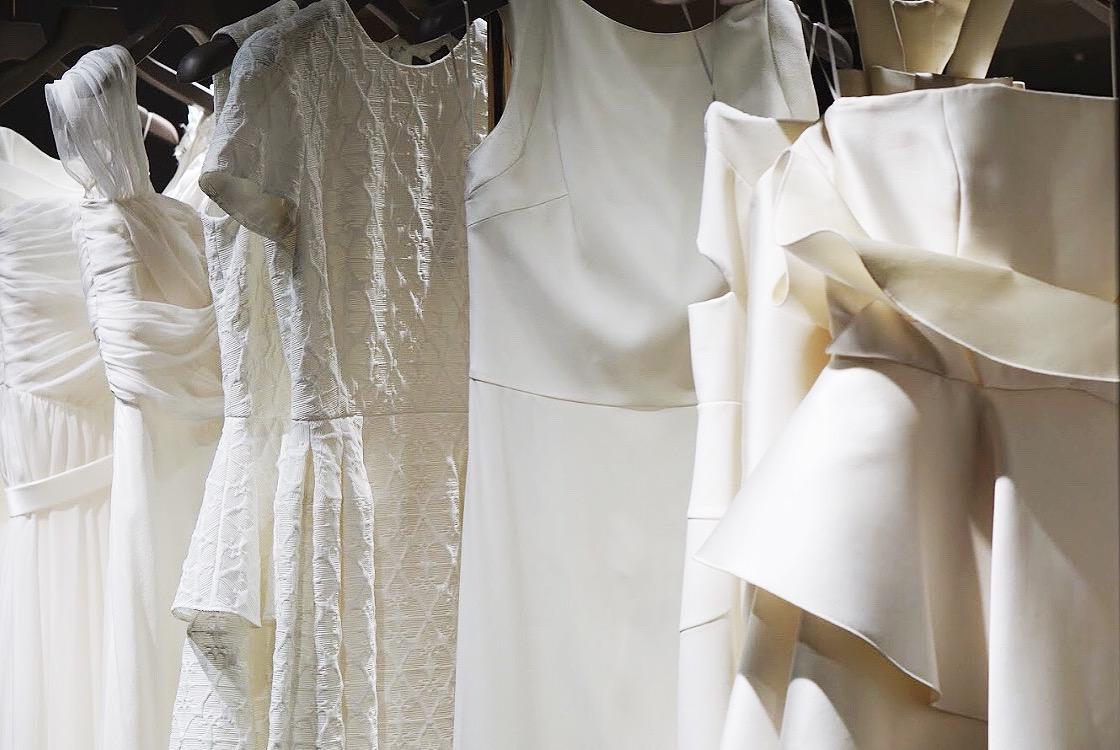 Wedding dresses at the Isetan  bridal salon .