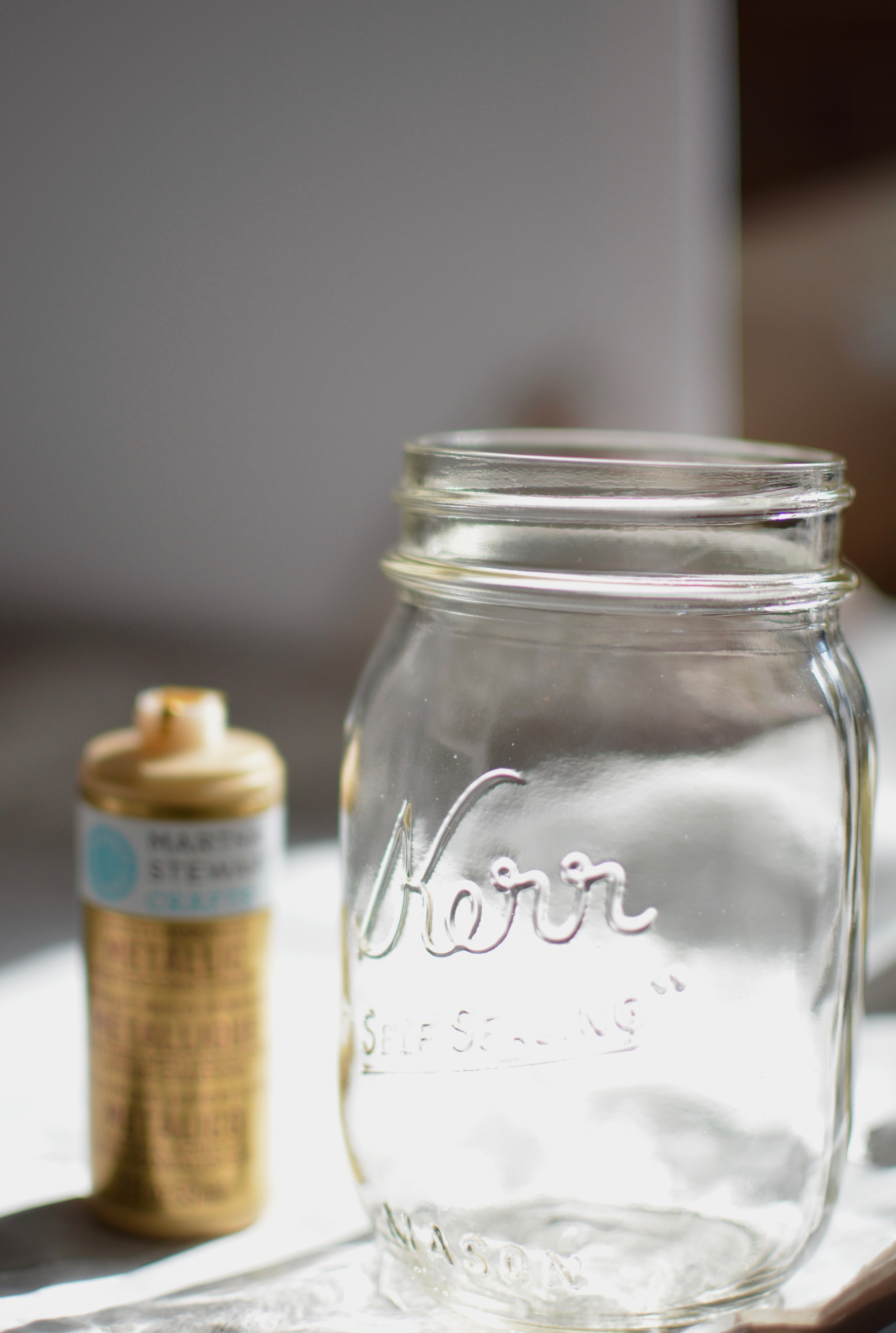 Mason jars were really popular a few years ago and for good reason- they are easy to find and affordable and offer all sorts of opportunities for personalization.