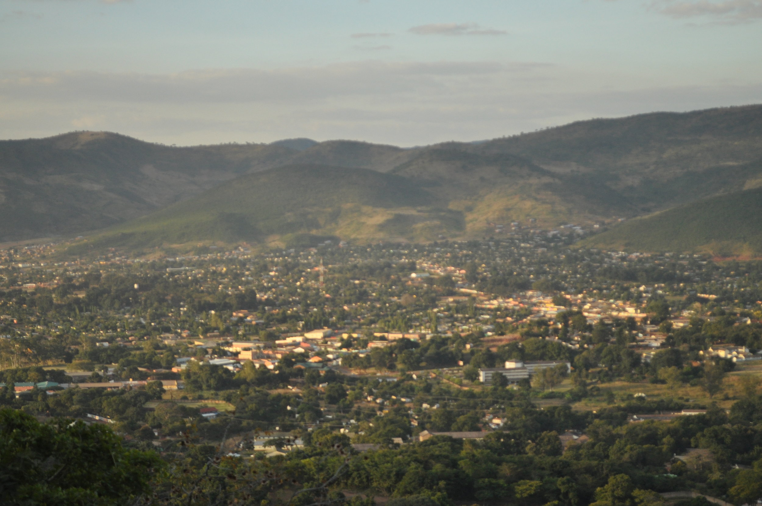 Chipata from the hill side.