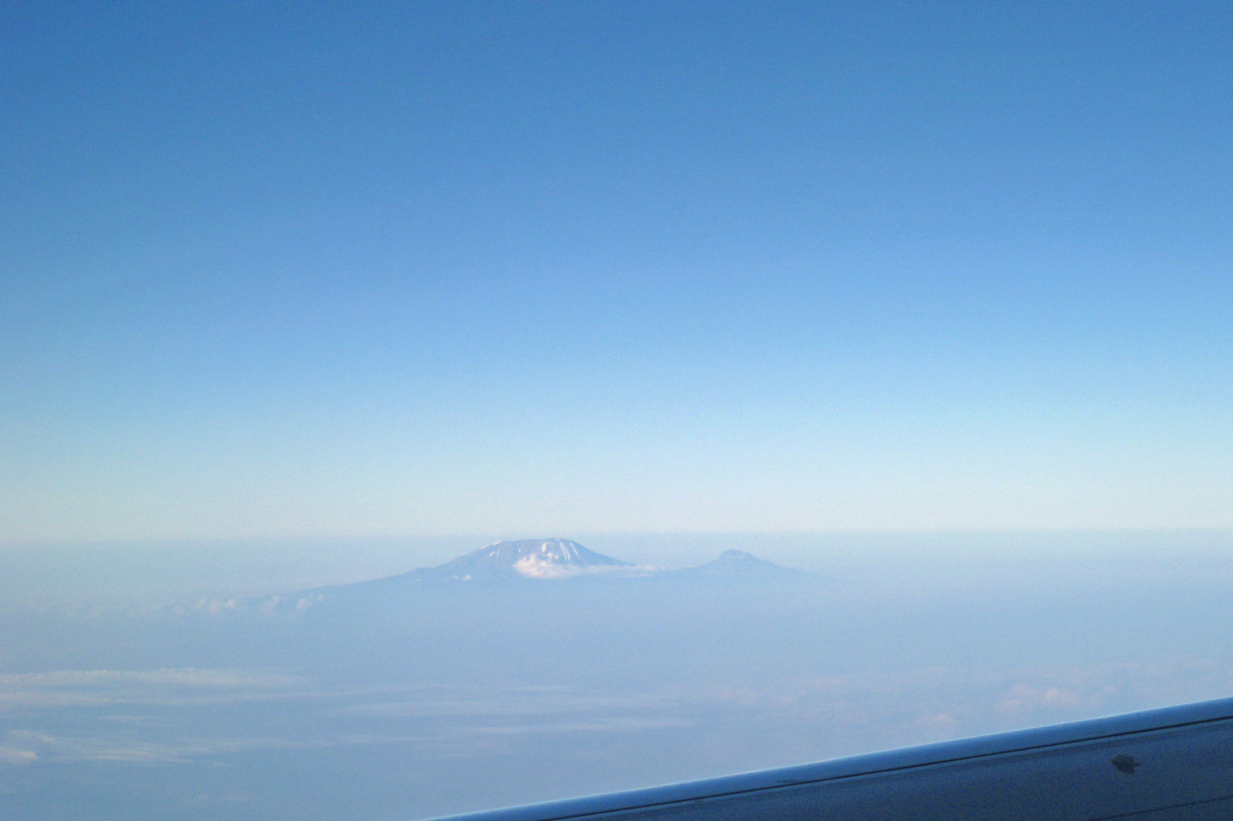 Mount Kiliminjaro on the flight from Lilongwe, Malawi to Addis Ababa, Ethiopia.