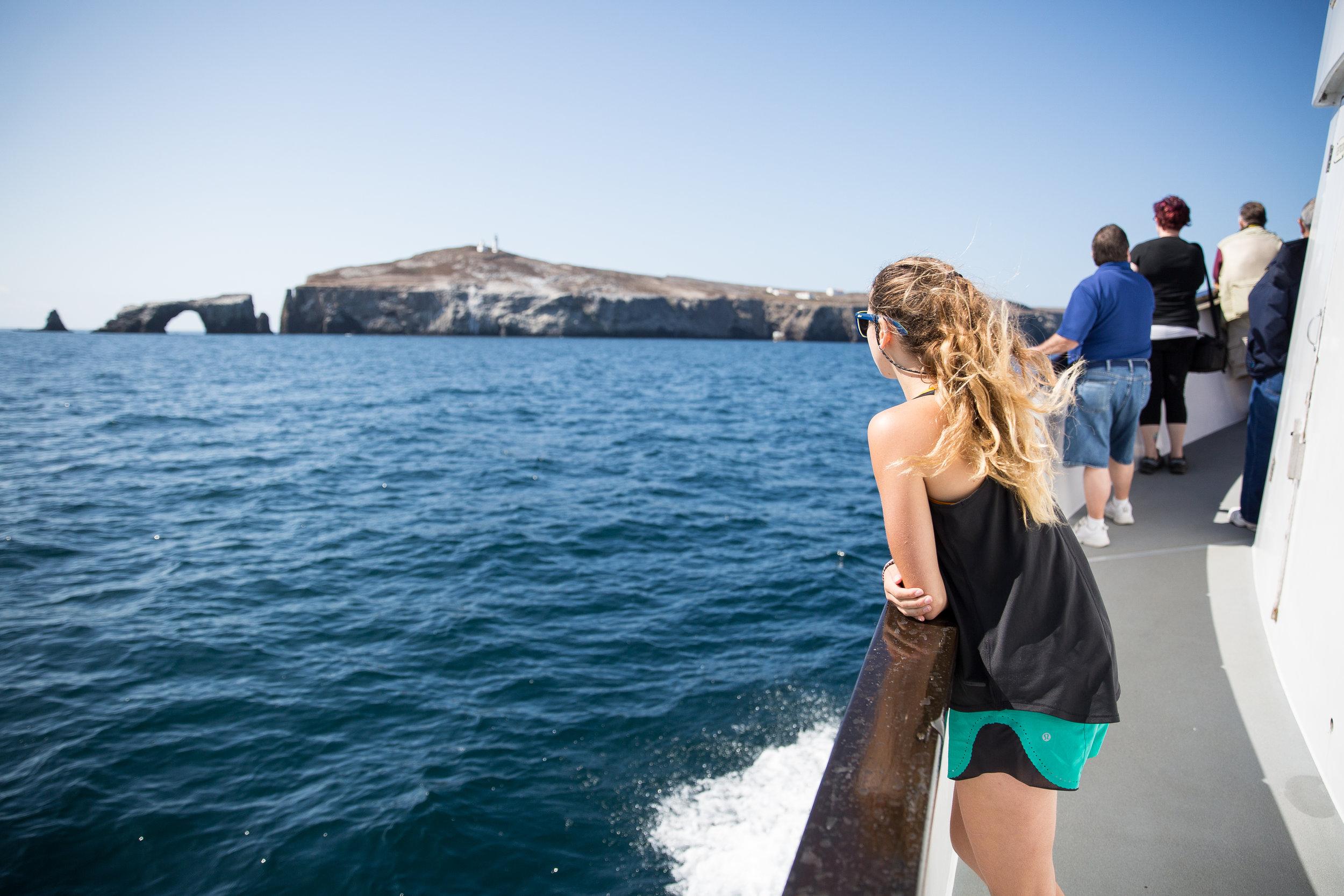 Arriving to Anacapa Island