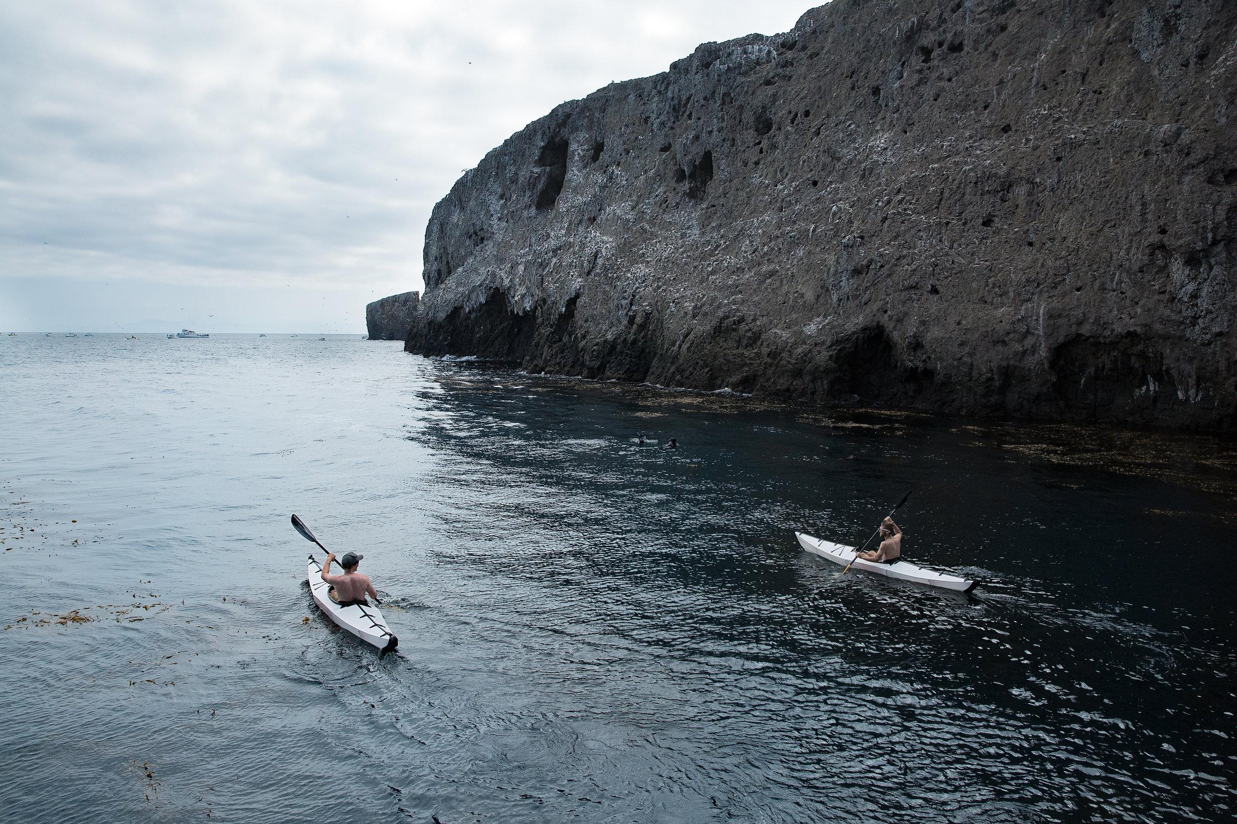 Saturday morning sea kayaking in the Orus.