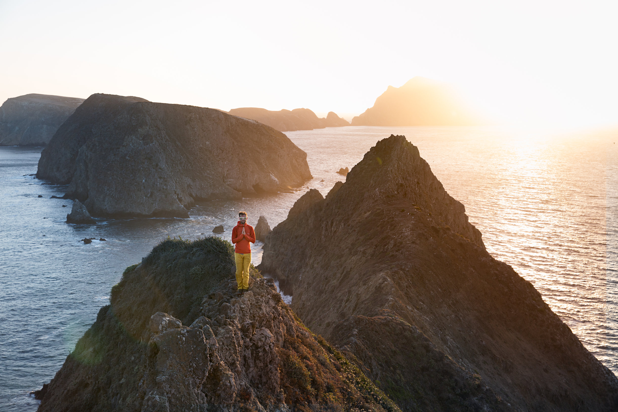 Looking back along the ridge line of Anacapa. What an amazing place..