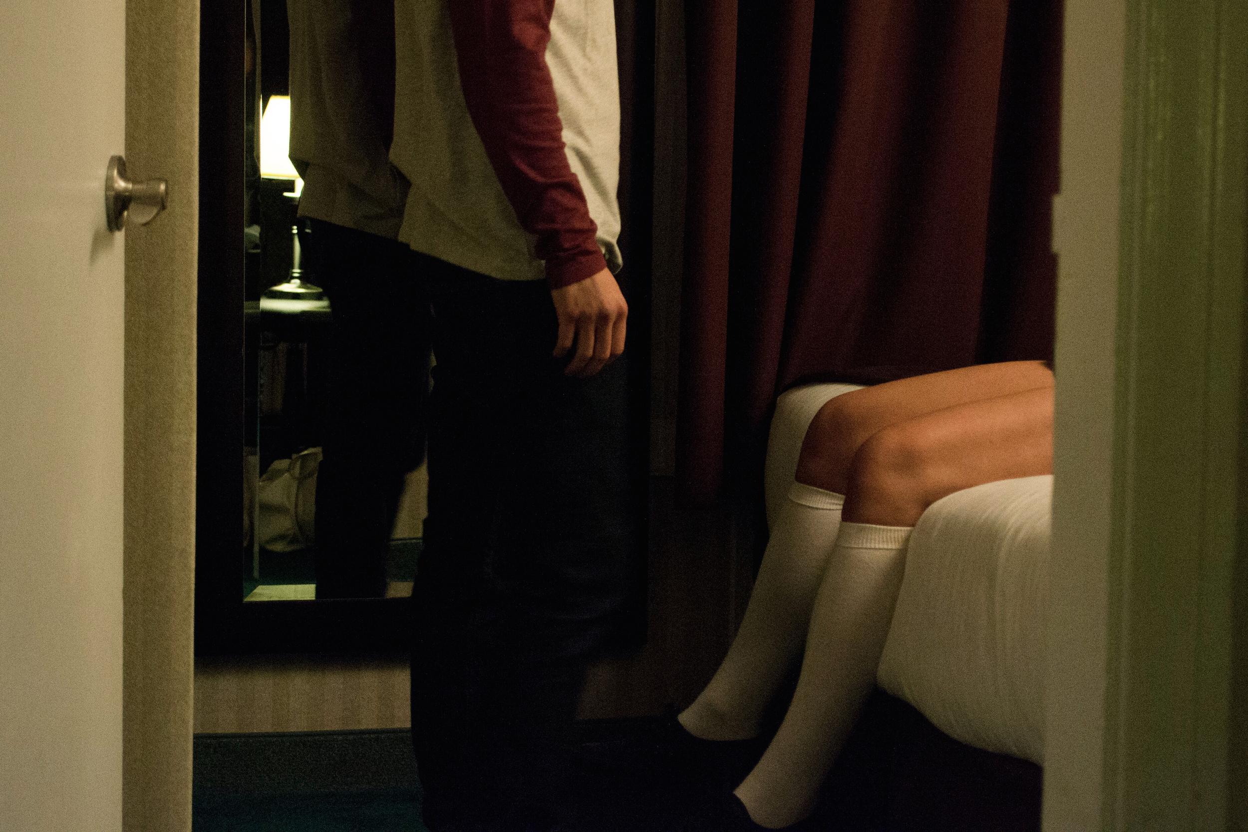 """Alyssa Reece and Cameron Crosby in """"After Eden"""""""