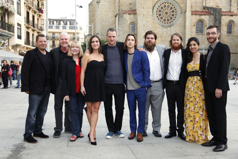 The AFTER EDEN team at the San Sebastian International Film Festival 2015. Photo: Gorka Bravo, © San Sebastian International Film Festival 2015