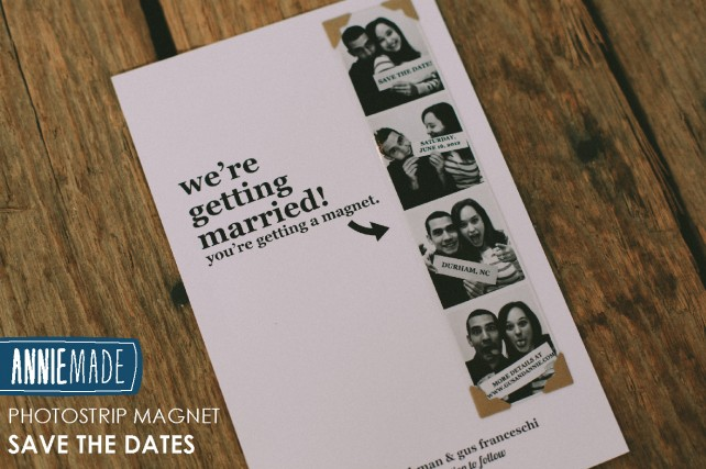 ANNIEMADE DIY Photostrip Magnet Save the Dates with Templates