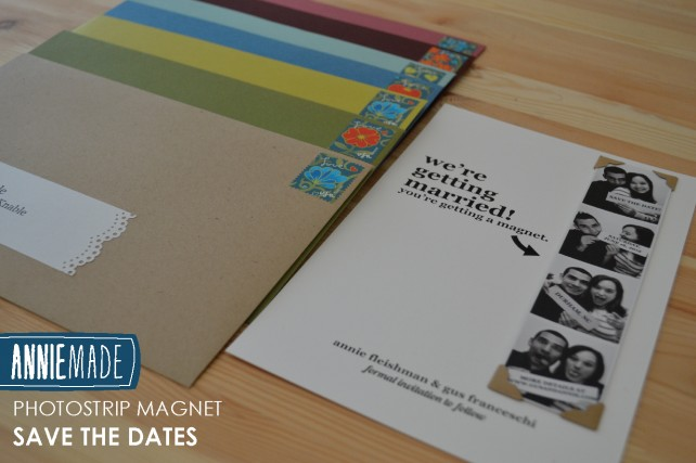 ANNIEMADE DIY Photostrip Magnet Save the Dates - Tutorial