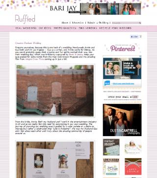 anniemade // Featured on Ruffled Wedding Blog