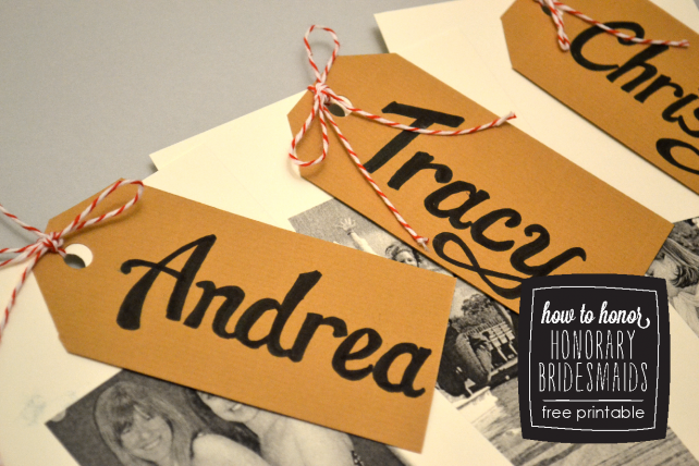 DIY Honorary Bridesmaids - Free Printable Card