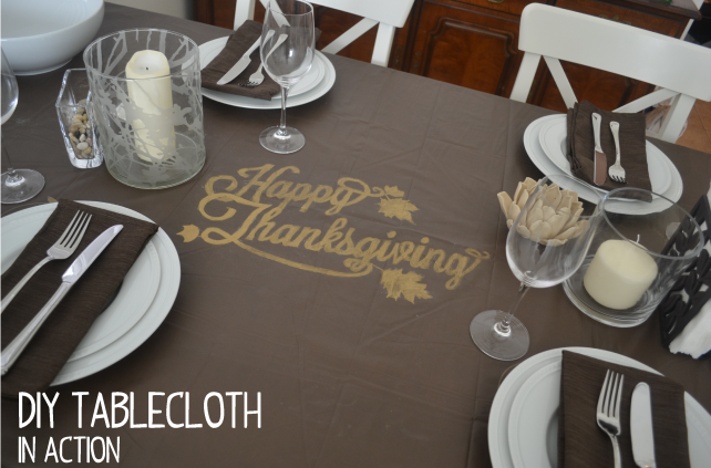 anniemade DIY Sharpie Tablecloth for Thanksgiving