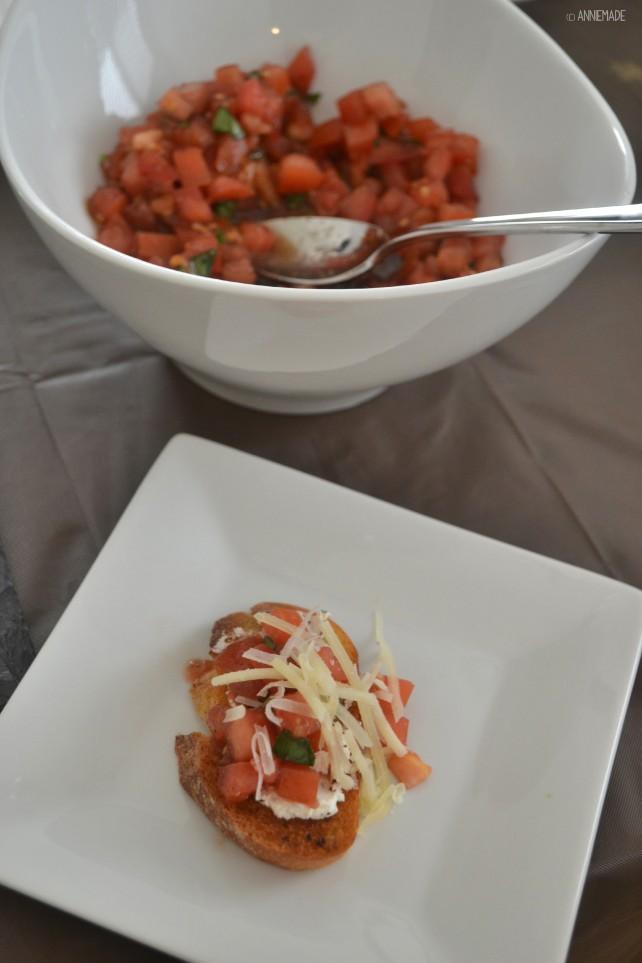 anniemade Balsamic Bruschetta with Garlic Crostini - Super easy appetizer