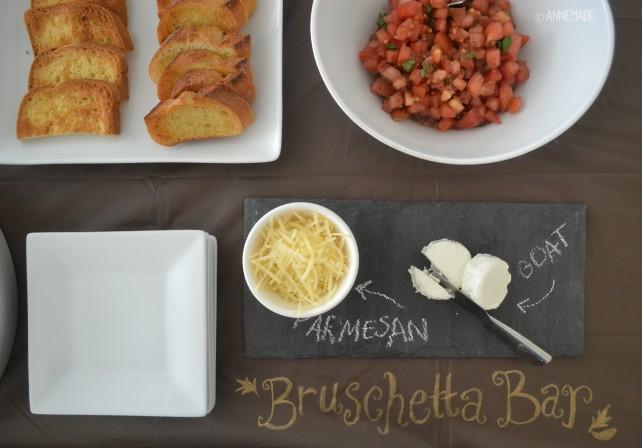 anniemade Balsamic Bruschetta with Garlic Crostini Recipe - Make a bruschetta bar!