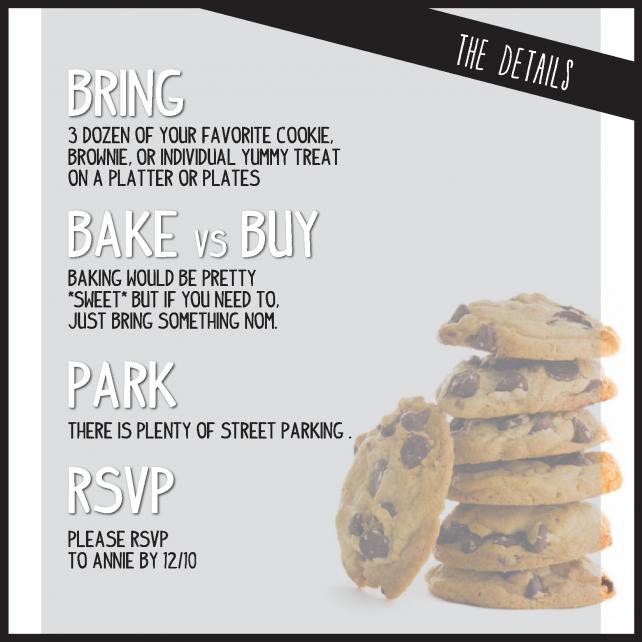 annie Custom Housewarming Invitation - Cookie Exchange Party