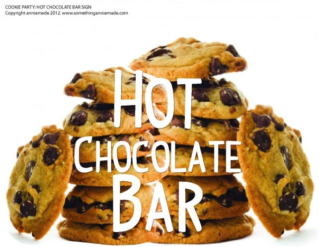 anniemade Free Printable Hot Chocolate Bar Sign