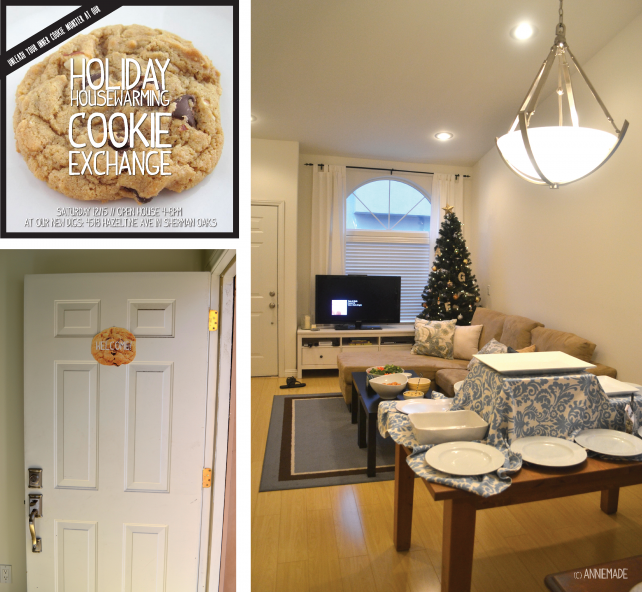 anniemade Cookie Exchange Housewarming Party and Custom Invite