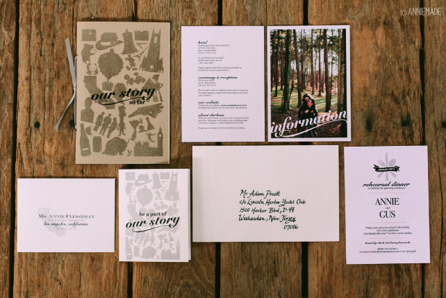 anniemade Custom Wedding Invitation Suite - Our Story