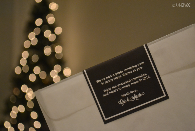 anniemade Creative Christmas Cards - Photo Envelopes sealed with Custom-Designed Labels